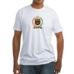BOURQUE Family Crest Fitted T-Shirt