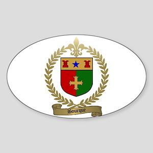 BOURQUE Family Crest Oval Sticker