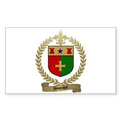 BOURQUE Family Crest Rectangle Decal