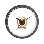 BOURQUE Family Crest Wall Clock