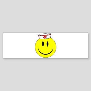 RN Nurse Happy Face Bumper Sticker