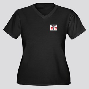 RN Gifts Women's Plus Size V-Neck Dark T-Shirt