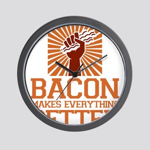 Bacon Makes Everything Better Bacon Lov Wall Clock