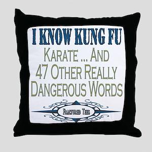 Kung Fu Throw Pillow