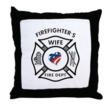 Fire Fighter Wife Throw Pillow