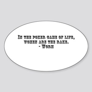 Rounders Worm Quote Oval Sticker