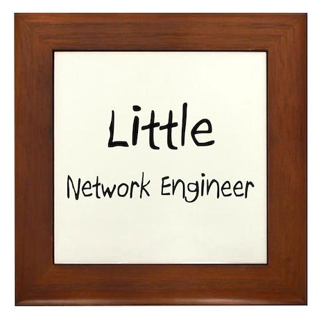 Little Network Engineer Framed Tile