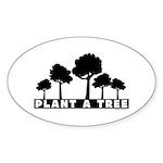 Plant Tree Oval Sticker (10 pk)