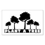 Plant Tree Rectangle Sticker