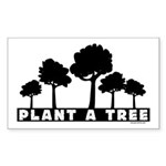 Plant Tree Rectangle Sticker 10 pk)