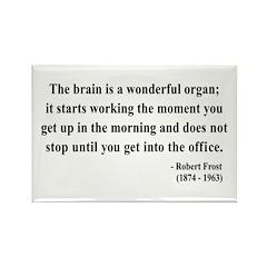 Robert Frost 7 Rectangle Magnet (10 pack)