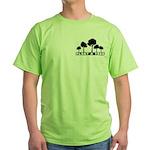 Plant Tree Pocket Image Green T-Shirt