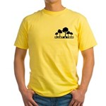 Plant Tree Pocket Image Yellow T-Shirt