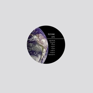 Rethink Life on Earth Mini Button