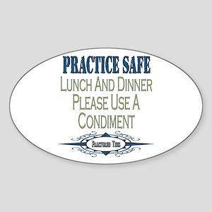 Condiments Oval Sticker