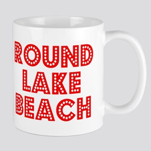 Retro Round Lake B.. (Red) Mug