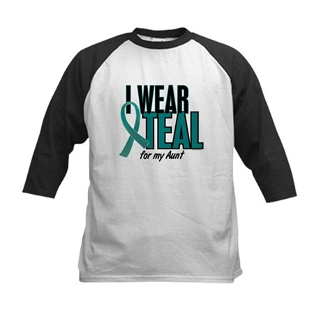 I Wear Teal For My Aunt 10 Kids Baseball Jersey