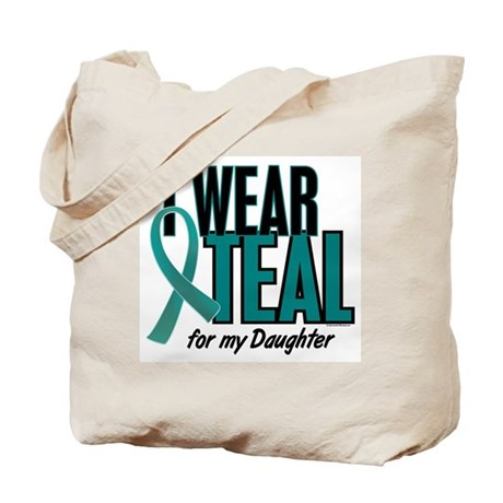 I Wear Teal For My Daughter 10 Tote Bag