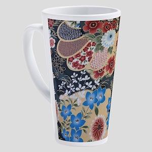 japanese cherry blossom floral 17 oz Latte Mug