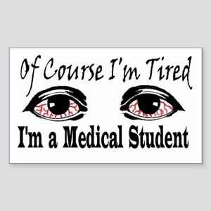 Medical Student Rectangle Sticker