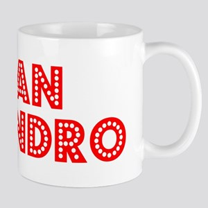 Retro San Leandro (Red) Mug