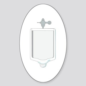 Urinal Oval Sticker