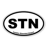 London Stansted Airport Oval Sticker
