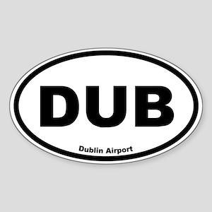 Dublin Airport Oval Sticker