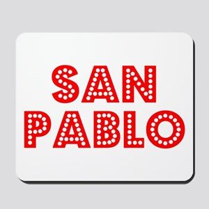 Retro San Pablo (Red) Mousepad