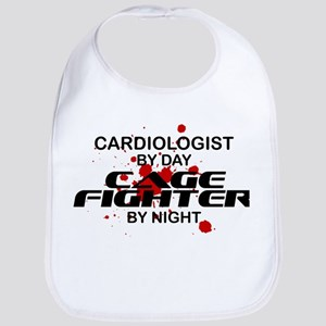 Cardiologist Cage Fighter by Night Bib