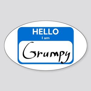 Grumpy Oval Sticker