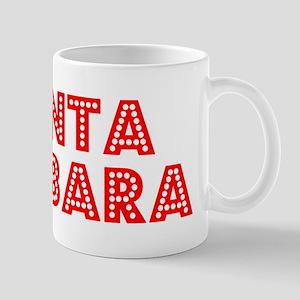 Retro Santa Barbara (Red) Mug