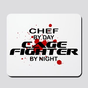 Chef Cage Fighter by Night Mousepad