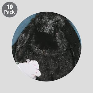 """Black Velvet 3.5"""" Button (10 pack)"""