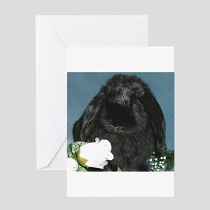 Black Velvet Greeting Card