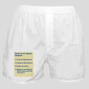 homework excuses #3 Boxer Shorts
