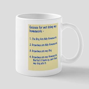 homework excuses #3 Mug