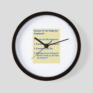 homework excuses #3 Wall Clock