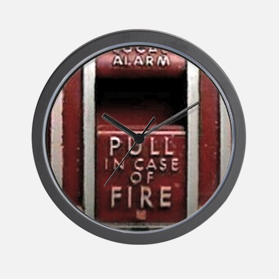 Pull In Case of Fire Wall Clock
