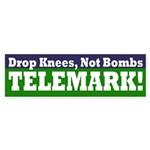 Drop Knees, Not Bombs Bumper Sticker