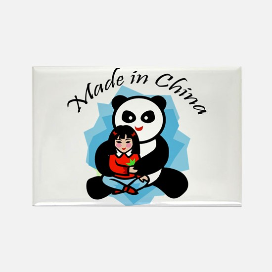 Made in China Panda Rectangle Magnet