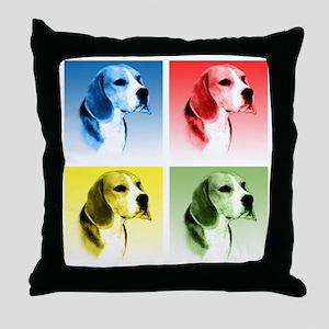 Beagle Pop Art Throw Pillow