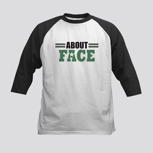 About Face Military Kids Baseball Jersey