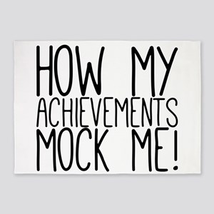How my achievements mock me! 5'x7'Area Rug