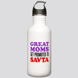 Moms Promoted To Savta Stainless Water Bottle 1.0L