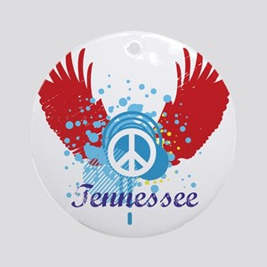 Tennessee Peace Ornament (Round)