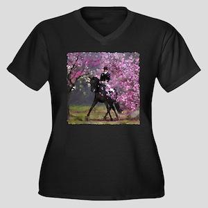Spring Half Pass Dressage Plus Size T-Shirt