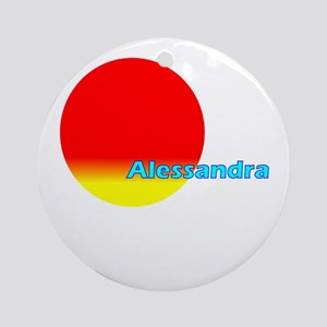 Alessandra Ornament (Round)