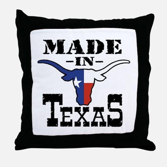 Made In Texas Throw Pillow