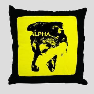 Badass Snarly ALPHA DOG Throw Pillow